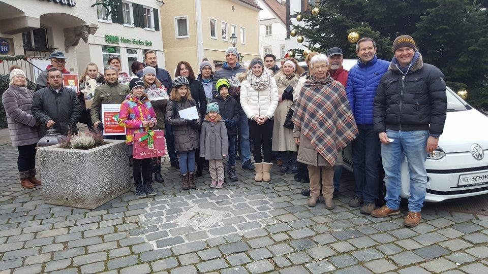 Verlosung VW Up Krumbach Werbegemeinschaft